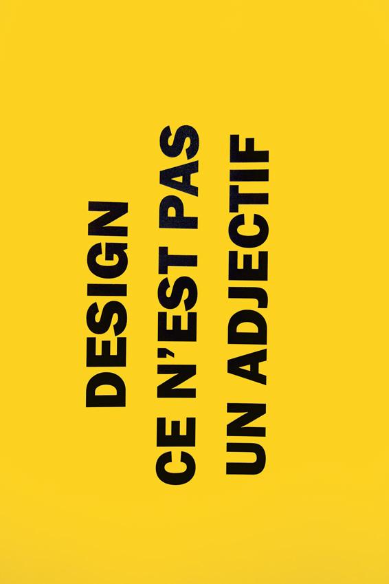 Design ce n'est pas un adjectif
