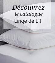 catalogue linge de lit uni