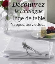 catalogue linge de table collectivités