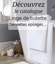 Catalogue linge toilette collectivité