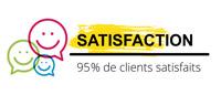 95% de clients satisfaits par ACM