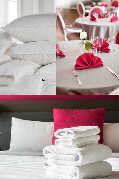 ACM équipement linge professionnel, literie, linge de table et linge de lit