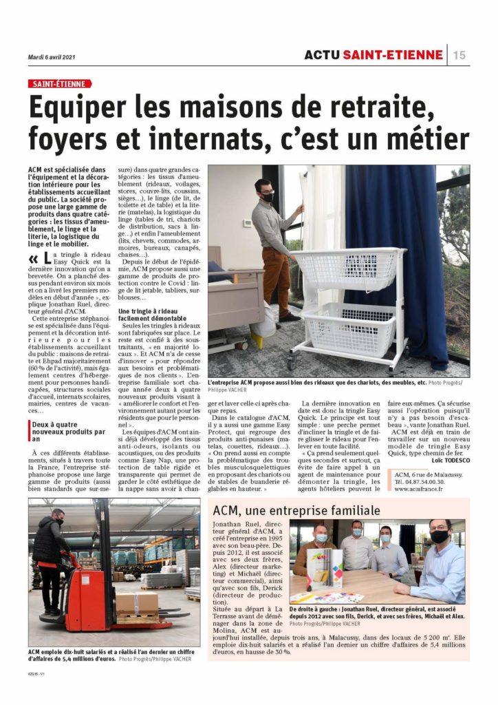 Article Le Progrès - ACM France